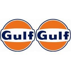 Kit 2 stickers Gulf